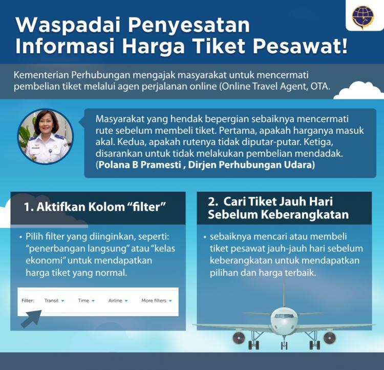 Hindari Penyesatan Informasi, Dirjen Perhubungan Udara Imbau Masyarakat Hati-Hati Beli Tiket Pesawat Online