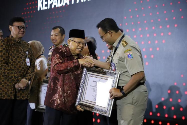Wujudkan Lingkungan Kerja Bebas dari Korupsi, DPMPTSP Provinsi DKI Jakarta Terima Penghargaan dari Pemerintah Pusat