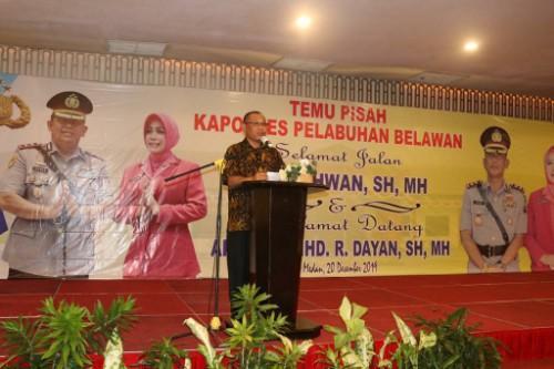 Plt Walikota Medan Hadiri Pisah Sambut Kapolres Belawan