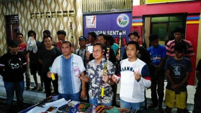 Personil Polrestabes Medan Diserang Petasan Saat Razia Narkoba di Jermal 15