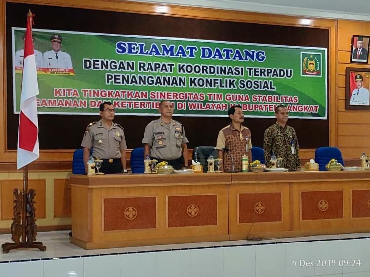 Bupati Langkat Hadiri Rakor PKS dan Rapat Pleno TPAKD