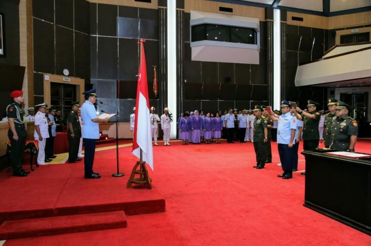 Panglima TNI Pimpin Sertijab Tiga Pejabat di Lingkungan Mabes TNI