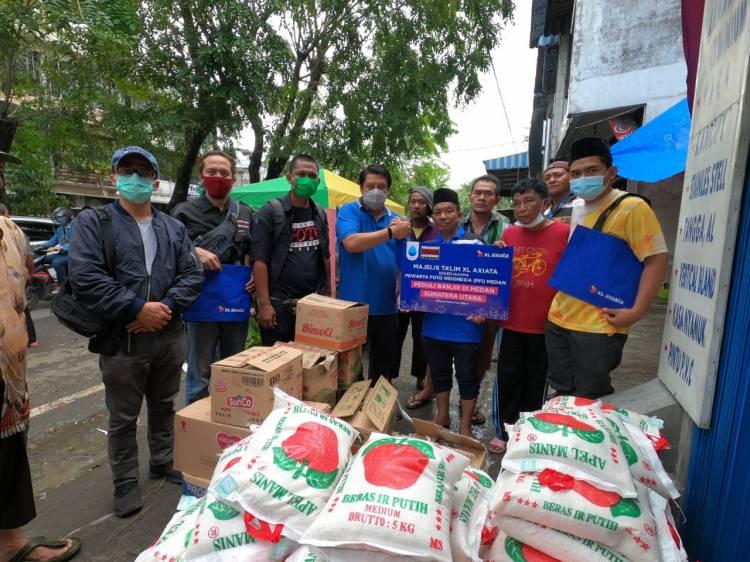 MTXL Axiata–PFI Medan Salurkan Bantuan untuk Korban Banjir