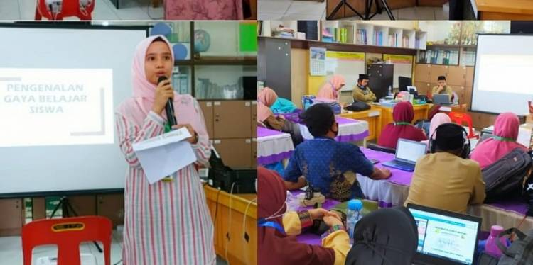 Guru Wajib Kenali Gaya Belajar Siswa, Dosen Universitas Muslim Nusantara Sosialisasi di SMP An Nizam Medan