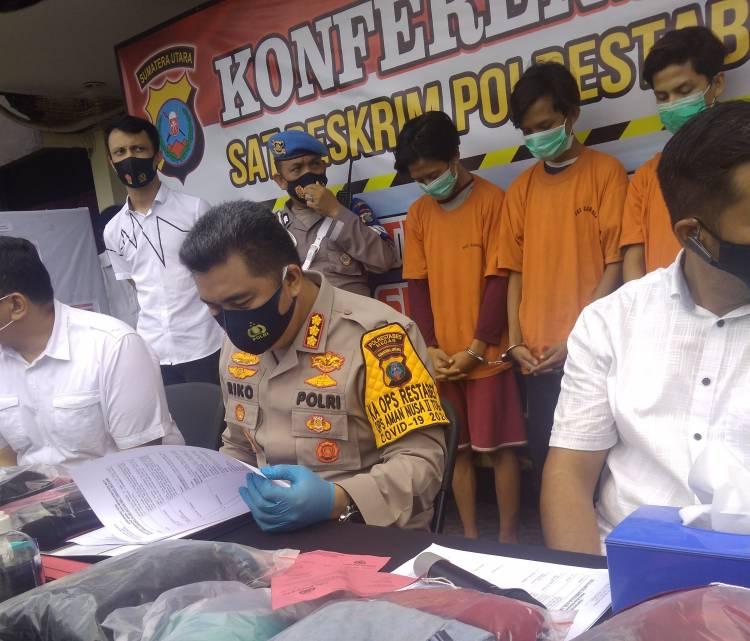 Polrestabes Medan Tangkap Tiga Pria Pembunuh Zulham, Remaja Asal Sei Rotan Yang Tewas Dikeroyok Jimmi Cs