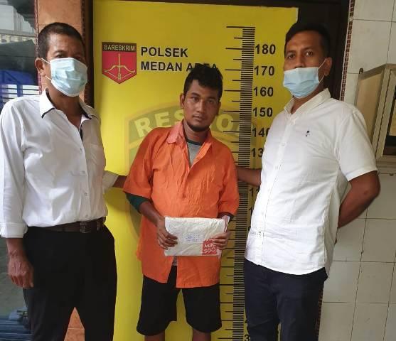 Polsek Medan Area Tangkap Pengedar Narkoba di Jalan Datuk Kabu, Ganja Disembunyikan dalam Mesin Cuci