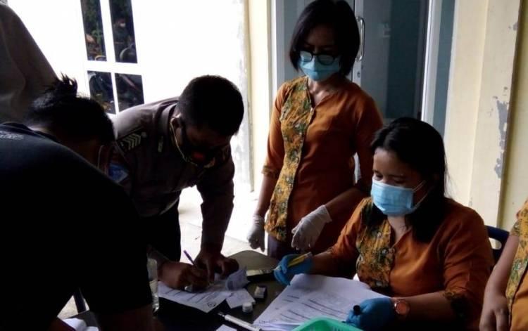 Usai BKO Pam Pilkada, Personil Polresta Deli Serdang Jalani Swab Test