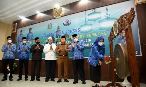 Buka MTQ Korpri Sumut, Sabrina Harapkan Sumut Juara di Tingkat Nasional