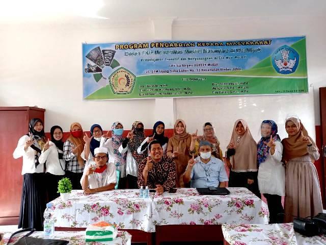 Pengabdian Masyarakat Dosen UMN di SDN 064034 Medan Johor, Guru Dilatih Pergunakan Media Pembelajaran Interaktif Berbasis Video