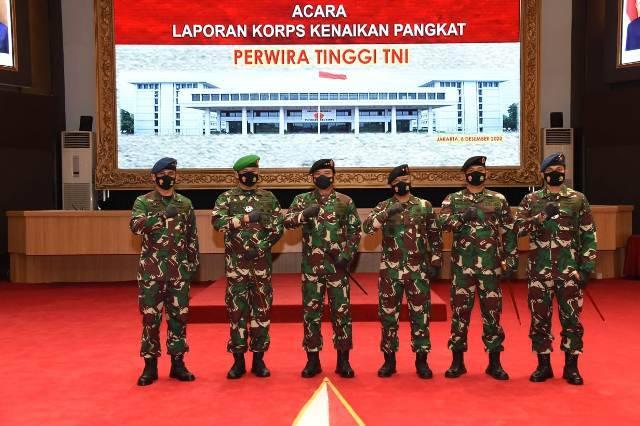 Panglima TNI Terima Laporan Kenaikan Pangkat 47 Pati TNI