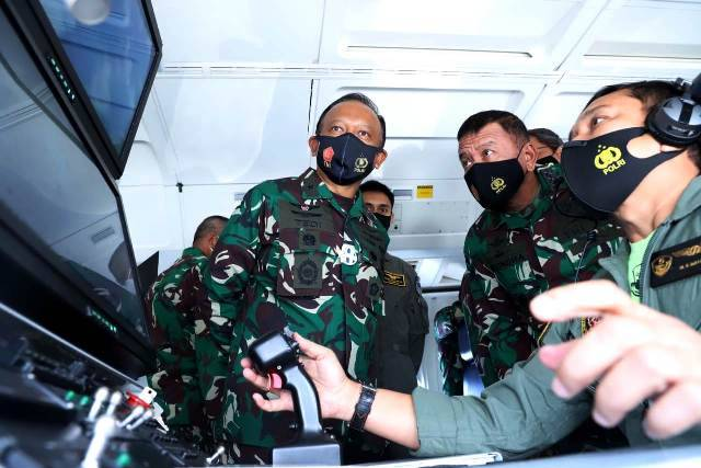Kasum TNI Kunjungi Tiga Satuan Pengamanan Pulau Terluar di Natuna