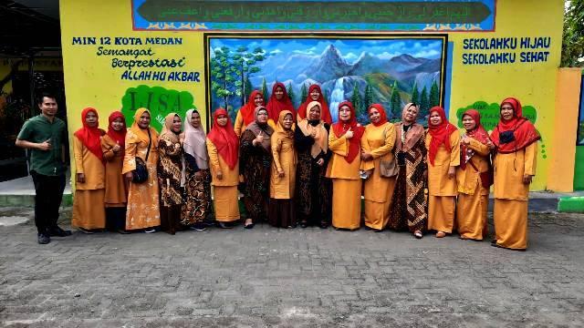 Study Banding Adiwiyata Nasional, MIN 12 Medan Terima Kunjungan MIN 1 Tapteng