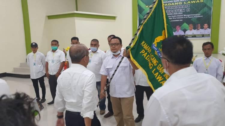 Terpilih Jadi Ketua, Moris Harahap Siapkan Kadin Padang Lawas Sebagai Wadah Pengembangan Usaha Lokal