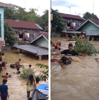 Ratusan Rumah di Kelurahan Sei Mati Dikepung Banjir, Tinggi Air Mencapai 2 Meter