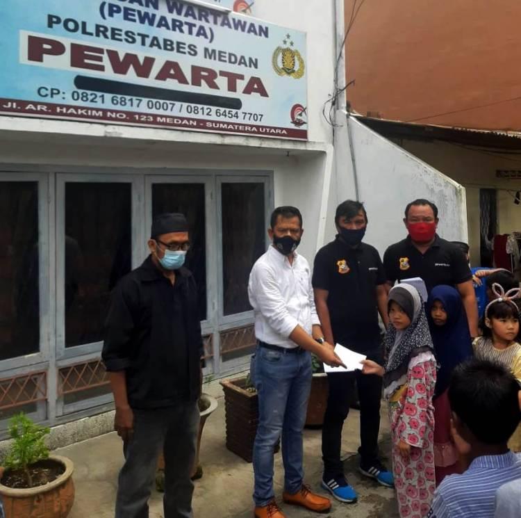 Terapkan Protokol Kesehatan, Ketua Pewarta Jumat Barokah Santuni 100 Anak Yatim