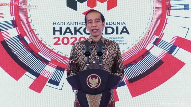Peringatan Hakordia 2020, Presiden Jokowi: Pemberantasan Korupsi Tak Boleh Padam