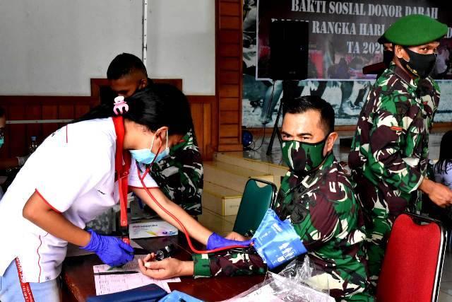 Sambut Hari Juang TNI AD Tahun 2020, Korem 174 Merauke Gelar Donor Darah