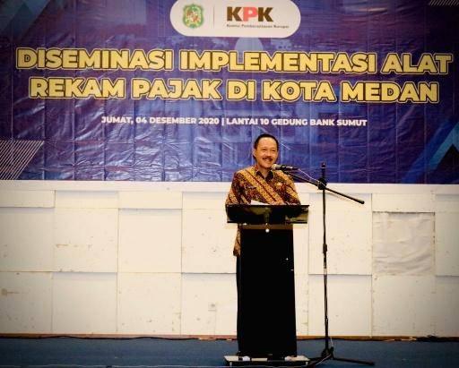 KPK Dorong Pemko Medan Implementasikan Alat Rekam Pajak di Lokasi Usaha