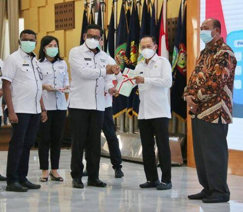 BPN Sumut Serahkan Sertifikat Aset kepada Pemko Medan, Pengembang Perumahan Berikan PSU