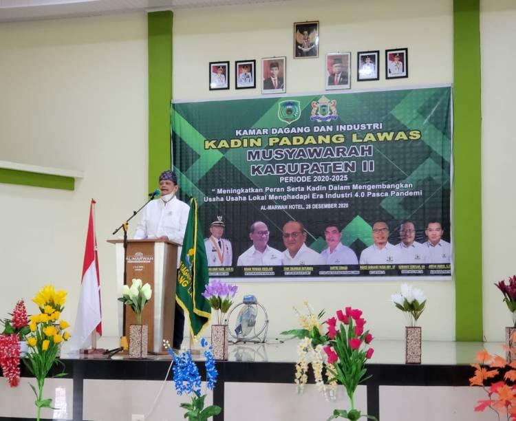 Komite Kerja Optimalisasi Pembangunan dan Pengembangan Desa Sampaikan Sejumlah Program pada Mukab Kadin Padang Lawas