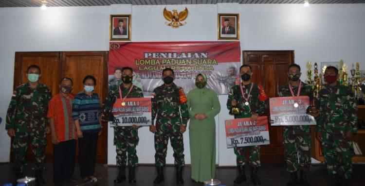 Sambut Bulan Kasih, 105 Prajurit TNI Ikuti Lomba Paduan Suara Lagu Mars Babinsa