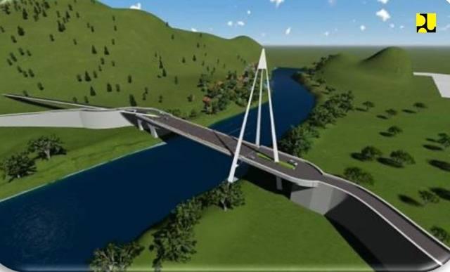 Dukung Pariwisata Danau Toba, Kementerian PUPR Mulai Konstruksi Jembatan Aek Tano Pongol