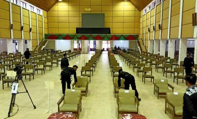 Jamin Kelancaran Sinode Godang di Sipaholon Taput, Team Jibom Gegana Sat Brimob Sumut Lakukan Sterilisasi