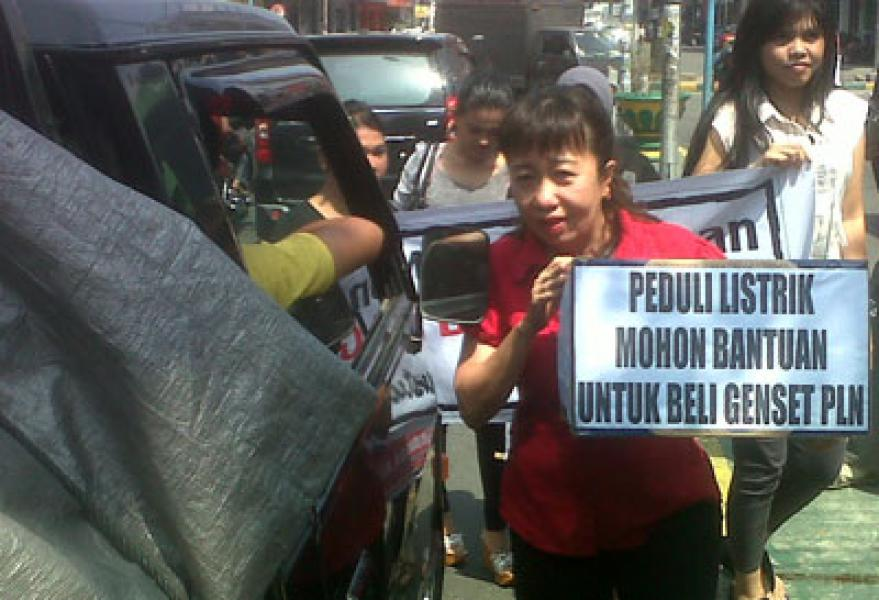 Caleg DPRD Medan Galang Dana Bantu PLN Sewa Genset