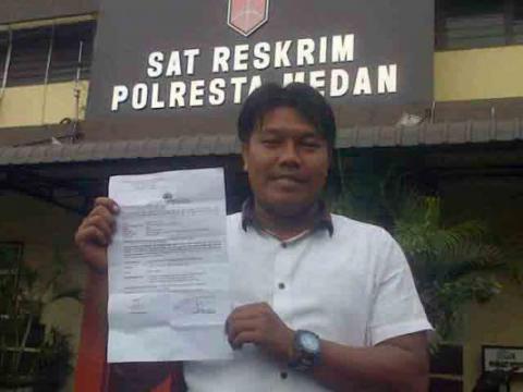Panitlantas Polsek Medan Barat Bantah Hina Wartawan