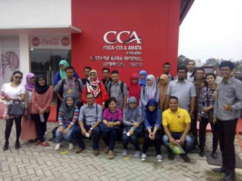 Perhumas Medan Courtesy Visit ke Pabrik Coca Cola