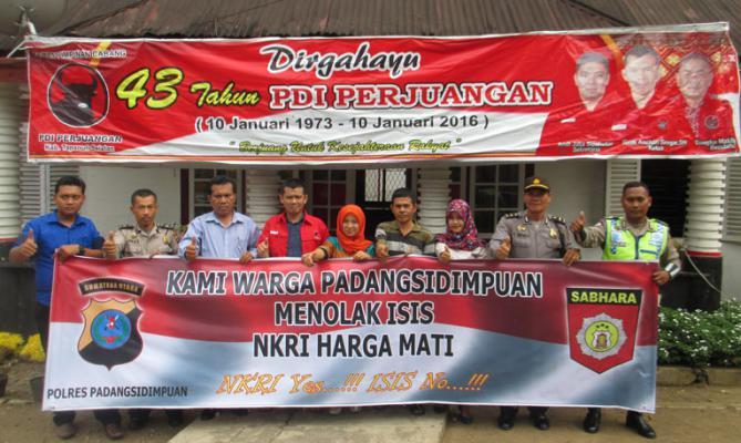 Polres Padangsidimpuan Kunjungi PDI Perjuangan Tapsel
