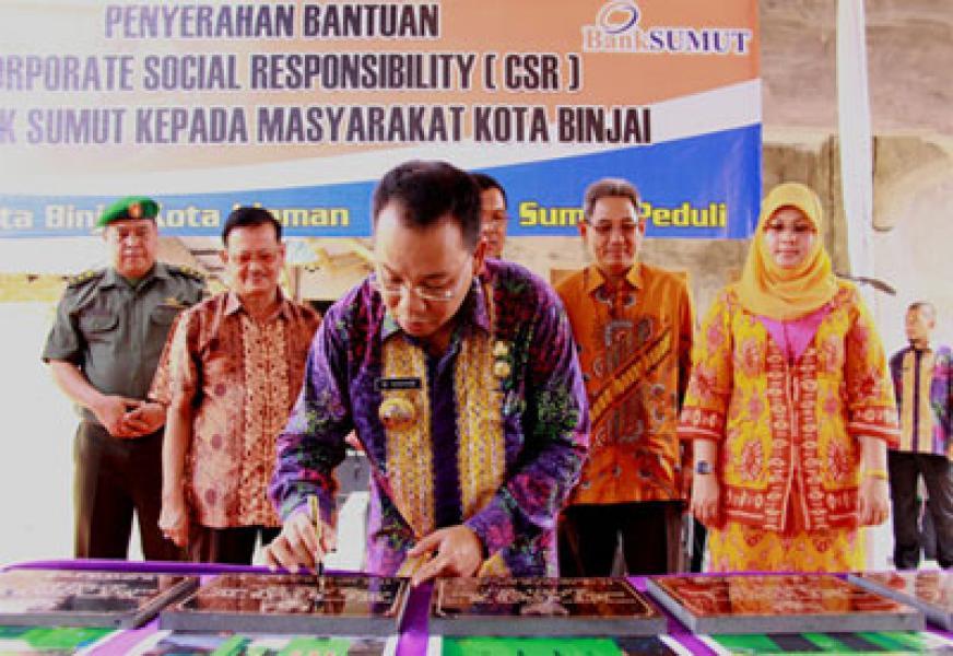 Bank Sumut Salurkan CSR Untuk Masyarakat Binjai