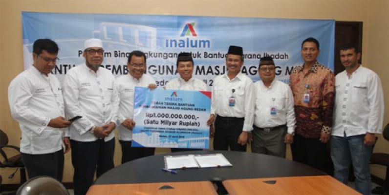 PT Inalum Bantu Rp 1 Miliar untuk Masjid Agung Medan