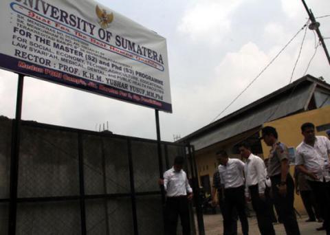 Rektor University of Sumatera Mengaku Lulusan Amerika