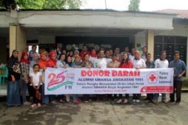 Sambut HUT Perak, Alumni SMA N 1 Binjai Angkatan 1991 Adakan Donor Darah