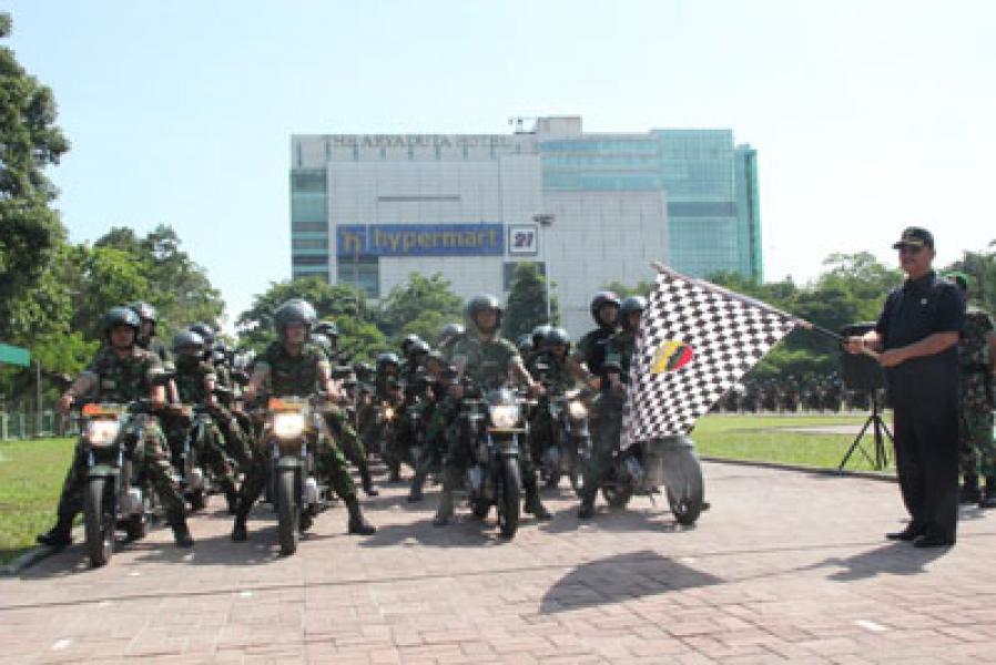 Plt Wali Kota Medan Lepas Patroli Kendaraan Bermotor Kodim 0201/BS