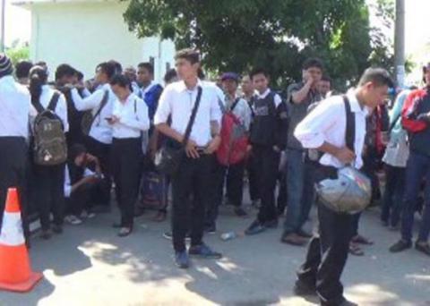 Aksi Protes Calon Polisi di Medan Berlanjut
