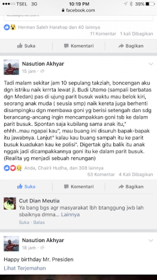 Digertak Wakil Walikota Medan, Anak Remaja Tak Jadi Buang Sampah di Parit Busuk