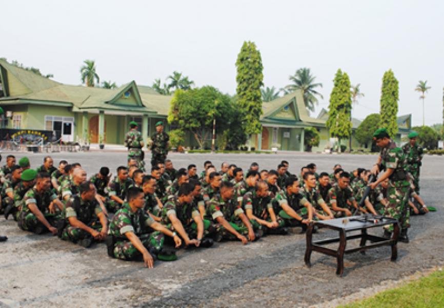 Prajurit Korem 022/PT Laksanakan Minggu Militer