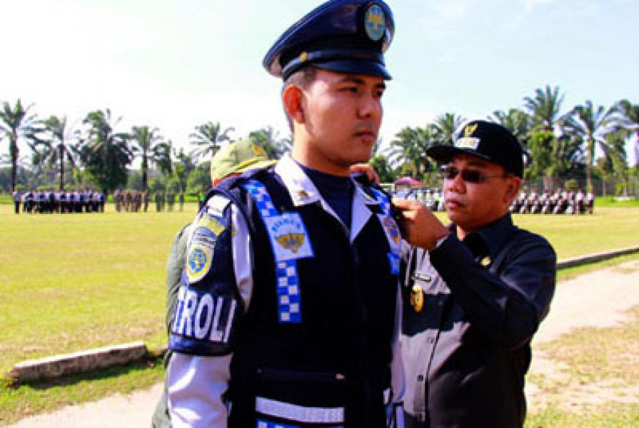 Walikota Binjai Pimpin Apel Gelar Pasukan Pengamanan Idul Fitri 1435 H