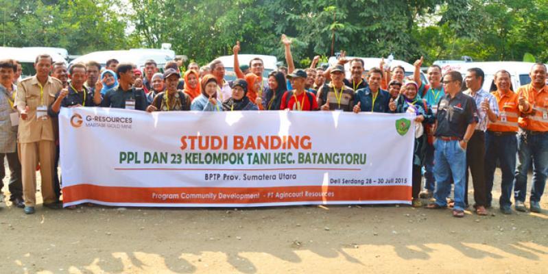 Tambang Emas Martabe Kirim 21 Kelompok Tani Studi Banding ke Deli Serdang
