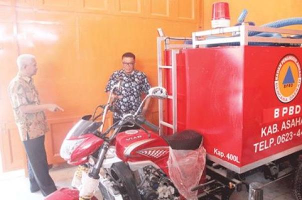 Asahan Kini Miliki Motor Gesit Pemadam Kebakaran
