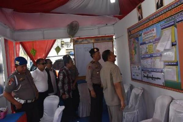 Bupati Deli Serdang Tinjau Kesiapan Pos Pam Ops Ramadniya Toba 2016