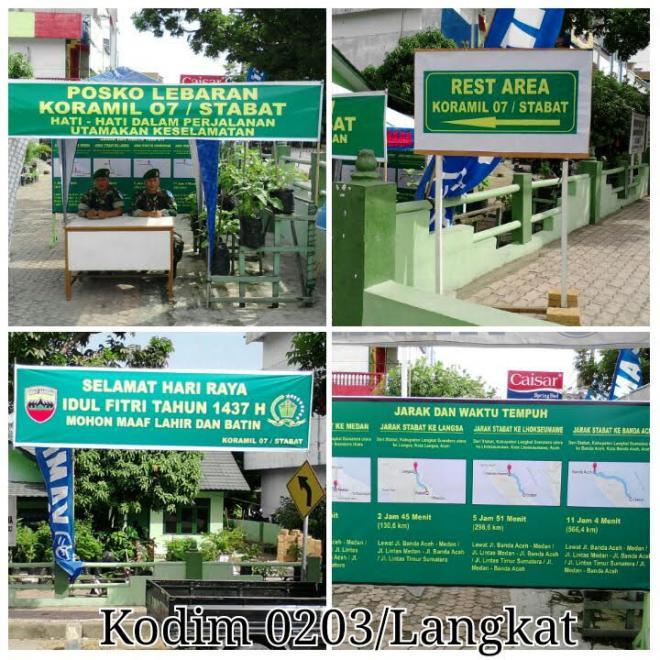 Koramil Jajaran Kodim Wilayah Korem 022/PT Siapkan Rest Area Selama Arus Mudik