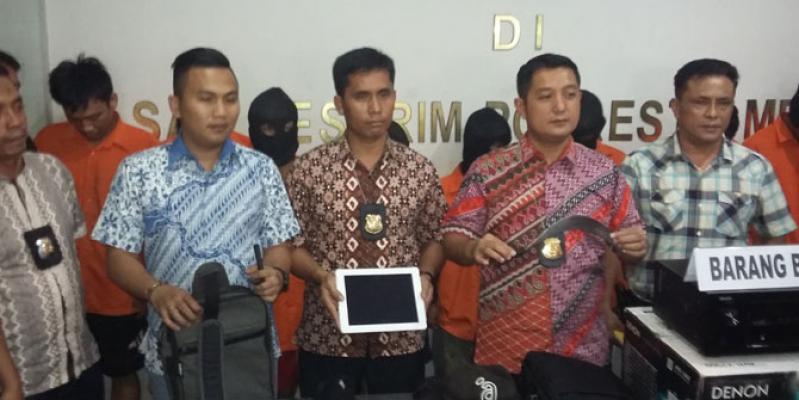 Polresta Medan Tangkap 10 Bandit Jalanan