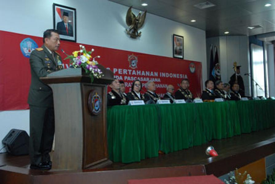 Panglima TNI Berikan Orasi Kepada Civitas Akademika Unhan