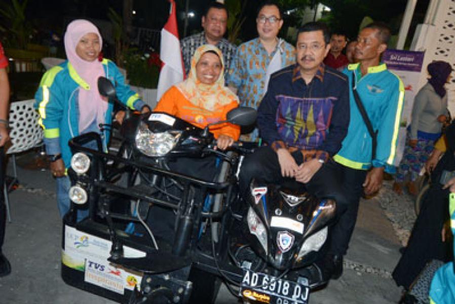 Sri Lestari, Wanita Tangguh Penyandang Disabilitas Asal Klaten Tiba di Medan