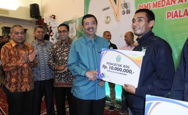 Juara Piala Kemerdekaan, PSMS Dapat Bonus Dari Plt Gubernur Sumut