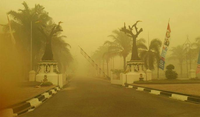 Kualitas Udara di Palangkaraya, Pekanbaru dan Pontianak Level Berbahaya