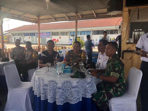 Sinergisitas TNI-Polri, Kapolres Pelabuhan Belawan Kunjungi Yon Marhanlan I Belawan